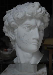 Testa Davide di Michelangelo