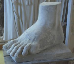 Piede sinistro Davide di Michelangelo