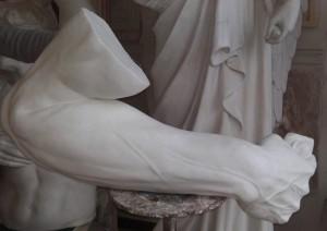 Braccio destro Mosè di Michelangelo