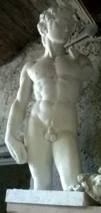 Torso con testa Davide di Michelangelo