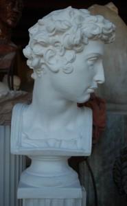 Busto in gesso di Giuliano de' Medici.