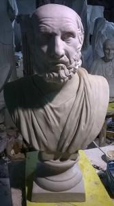 Busto in gesso del Filosofo Platone