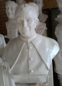 Busto in gesso di Don Bosco