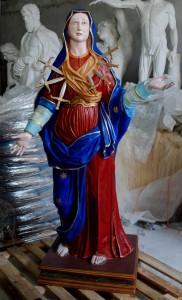 LS292 Statua della Madonna dei Sette Dolori h. cm. 162