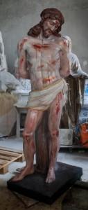LS293 Statua del Cristo alla Colonna h. cm. 177