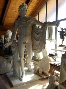 LS301 Statua dell'Apollo del Belvedere h. cm. 260