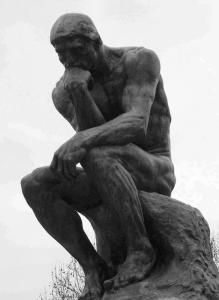 LS 312 Pensatore di Rodin h. cm. 210