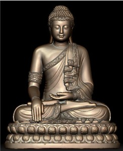 LS 313 Buddha seduto h. cm. 220