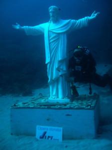 statua Cristo degli abissi