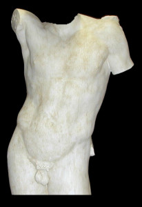 Anatomia LA 26 Torso anteriore Hermes di Prassitele