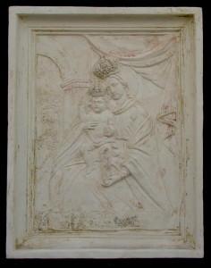 Bassorilievo LR 111 Madonna di Misobolo - rettangolare