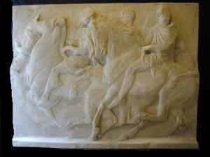 Bassorilievo LR 130 Metopa Partenone - due cavalli