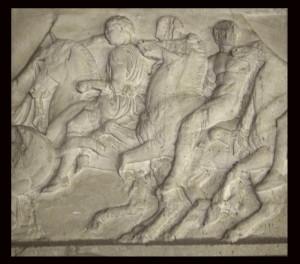 Bassorilievo LR 140 Metopa Partenone - cavalli