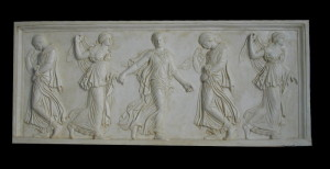 Bassorilievo LR 147 Danzatrici cinque figure