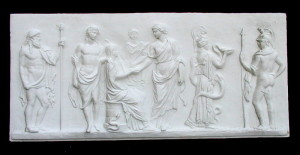 Bassorilievo LR 70 Hermes e Dioniso