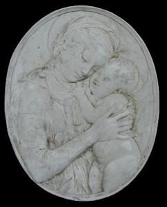Bassorilievo LR 95 Madonna del Donatello ovale