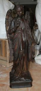 Statua in bronzo LS41BR Angelo con palma