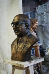 Bettino Craxi - Busto ritratto in bronzo - Comune di Pietracupa (CB)