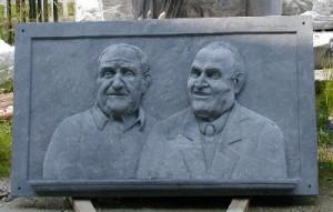 Bassorilievo Ritratto fratelli Ceresa - Ribordone (TO)