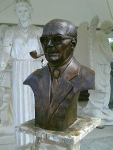 Sandro Pertini - Busto ritratto in bronzo - Comune di Morrovalle (MC)