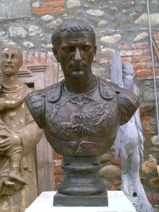 Busto in bronzo LB54BR Giulio Cesare