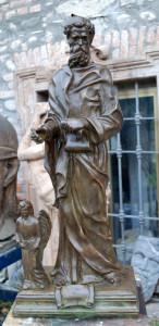 Statua in bronzo LS157BR San Matteo