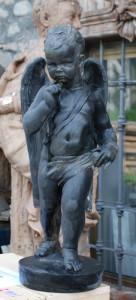 Statua in bronzo LS201BR Angelo