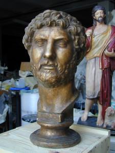 Busto in bronzo LB84BR Adriano Imperatore Romano