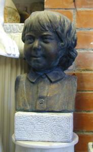 Busto in bronzo LB12BR Bimbo con basetta