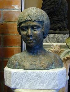 Busto in bronzo LB13BR Bimbo su basetta