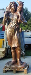 Statua in bronzo LS178BR Buon Pastore
