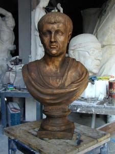 Busto in bronzo LB7BR Claudio Imperatore Romano