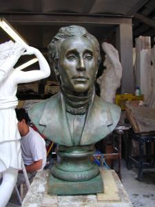 Busto in bronzo LB129BR Giacomo Leopardi