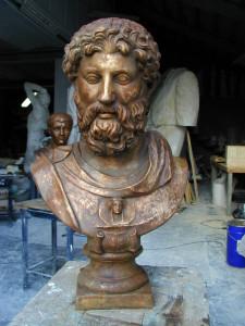 Busto in bronzo LB120BR Marco Aurelio Imperatore Romano