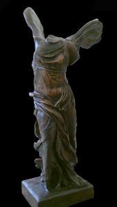 Statua in bronzo LS106BR Nike di Samotracia