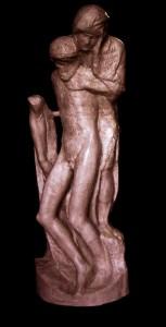 Statua in bronzo LS108BR Pietà Rondanini di Michelangelo
