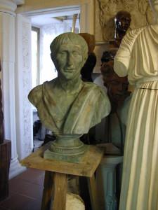 Busto in bronzo LB11BR Traiano Imperatore Romano